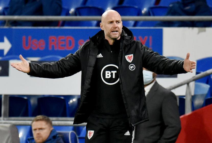 Pelatih timnas Wales, Robert Page.