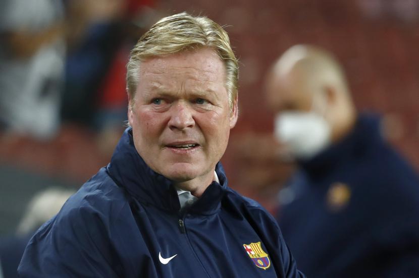 Pelatih Barcelona Ronald Koeman.