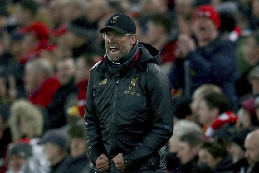 Pelatih Liverpool Juergen Klopp.