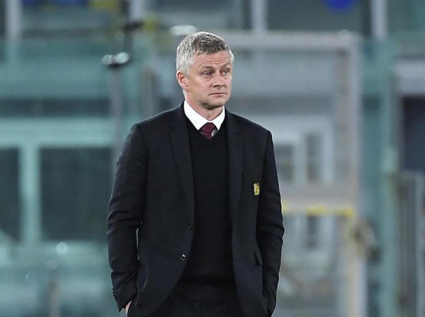 Pelatih Manchester United (MU) Ole Gunnar Solskjaer dalam pertandingan leg kedua semifinal Liga Europa vs AS Roma.