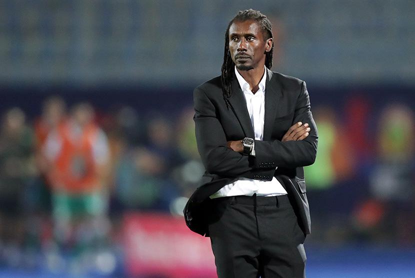 Pelatih Senegal Aliou Cisse.
