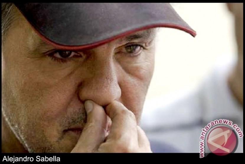 Pelatih tim sepakbola Argentina Alejandro Sabella