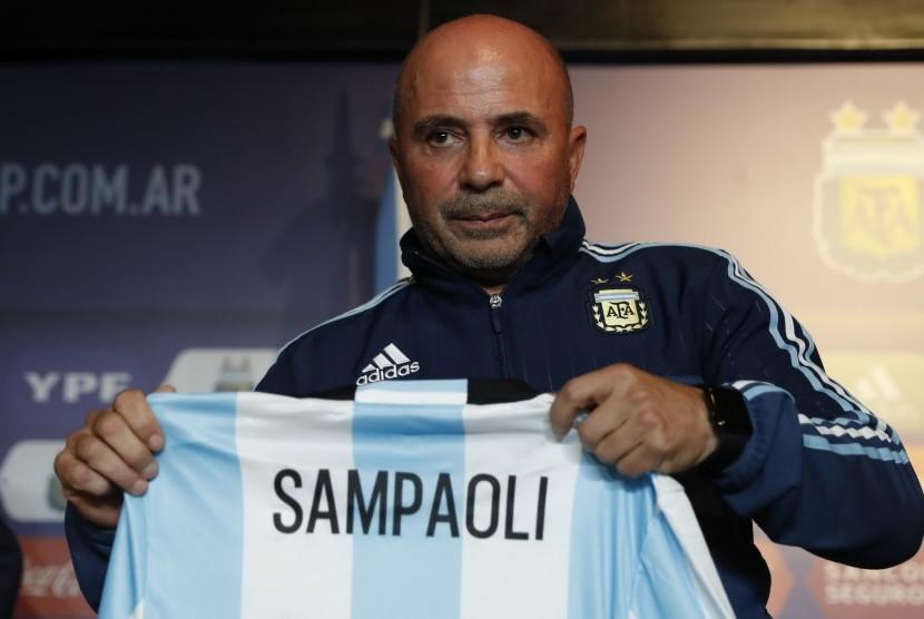 Pelatih timnas Argentina, Jorge Sampaoli.