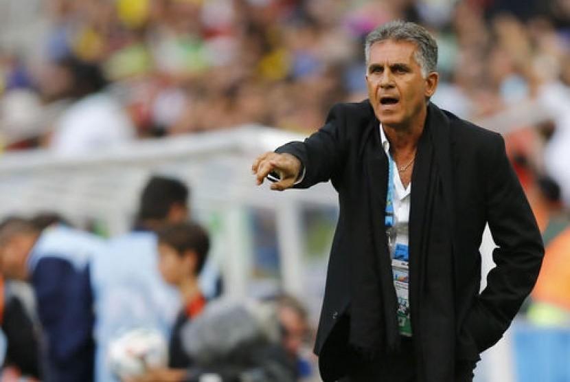 Pelatih timnas Iran, Carlos Queiroz.