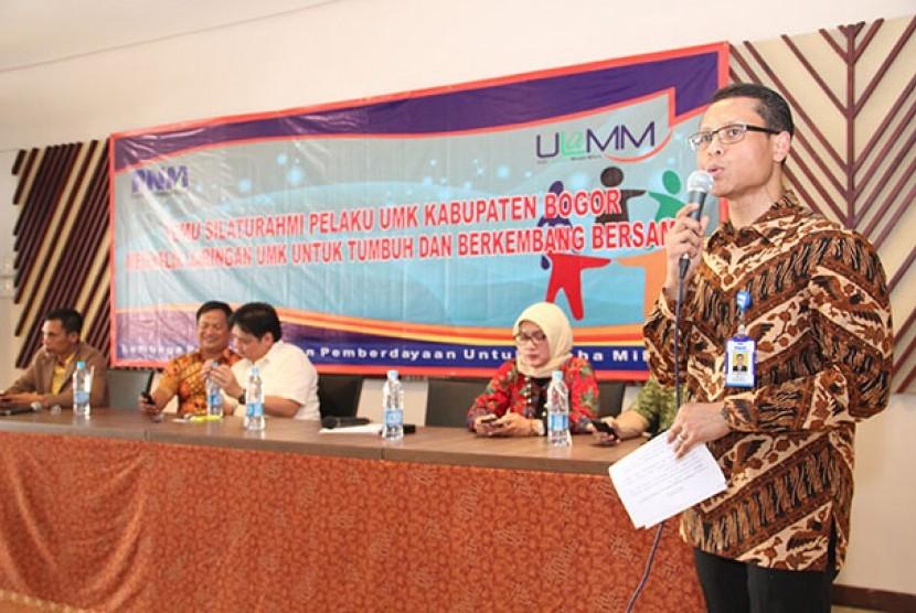 Pelatihaan dan pengembangan kapasitas usaha (PKU) di Cibinong, Jawa Barat, Jumat (7/3).