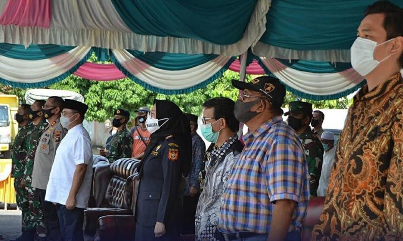 Pelepasan ekspor perdana cangkang sawit diadakan pada di Pelabuhan Tanjung Gudang Belinyu.