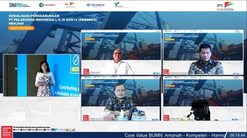 Pelindo melakukan sosialisasi tentang rencana merger Pelindo kepada berbagai perwakilan asosiasi dan instansi terkait pelabuhan, pada Senin (27/9).