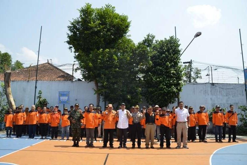 Peluncuran Kampung Tangguh Bencana (KTB) di Kampung Mangkukusuman, Kelurahan Baciro, Kecamatan Gondokusuman, Kota Yogyakarta.