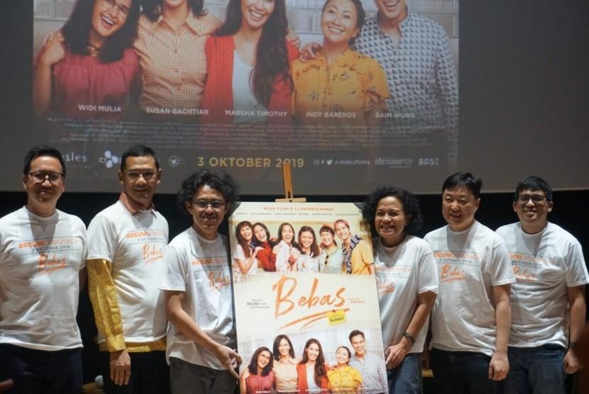 Peluncuran official poster dan trailer film BEBAS di CGV FX Sudirman Jakarta, Rabu (14/8)