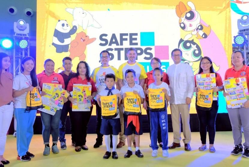 Peluncuran program safe steps kids di Jakarta