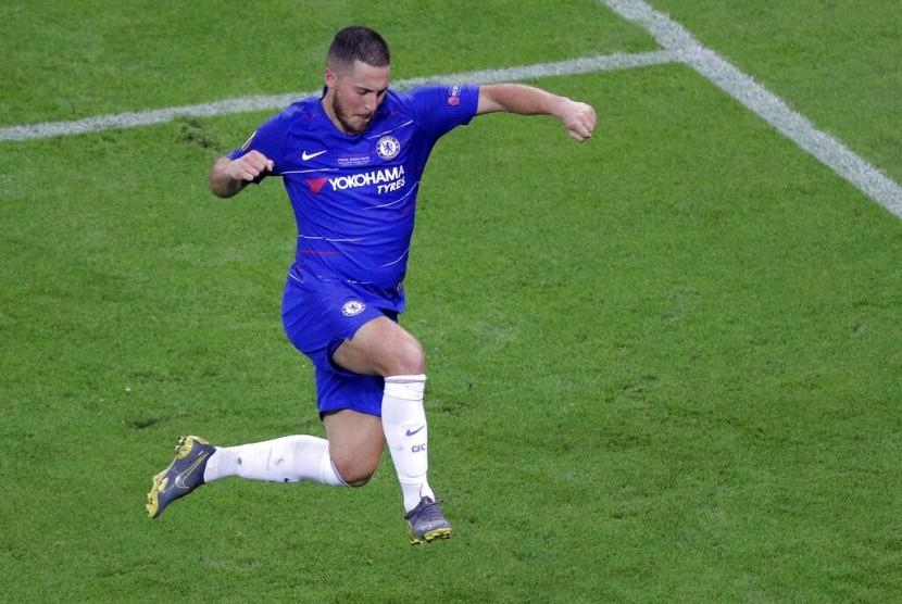 Pemain Chelsea Eden Hazard.