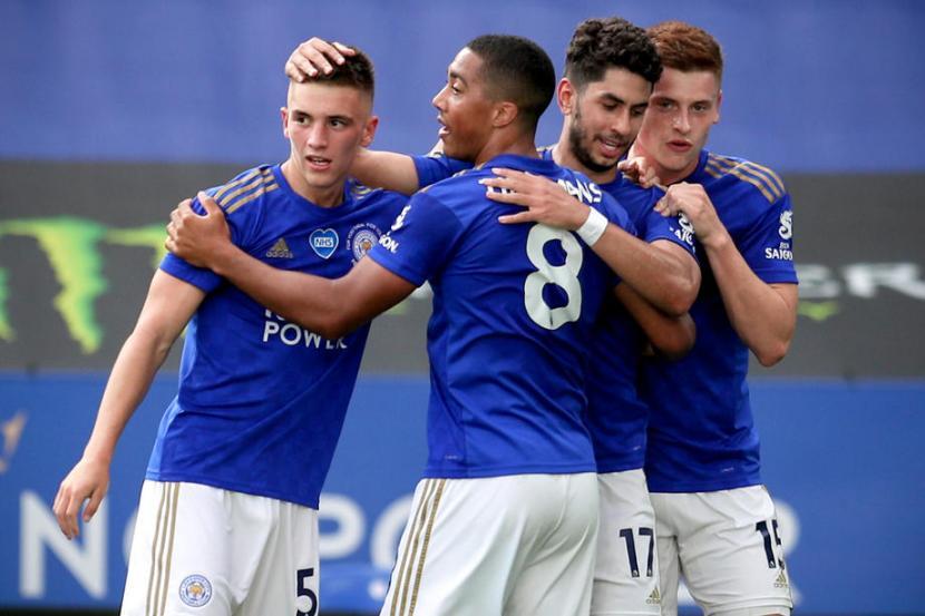 Pemain Leicester City Ayoze Perez (kedua kanan). -foto ilustrasi-