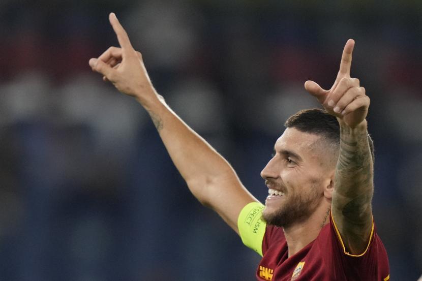 Pemain AS Roma Lorenzo Pellegrini.