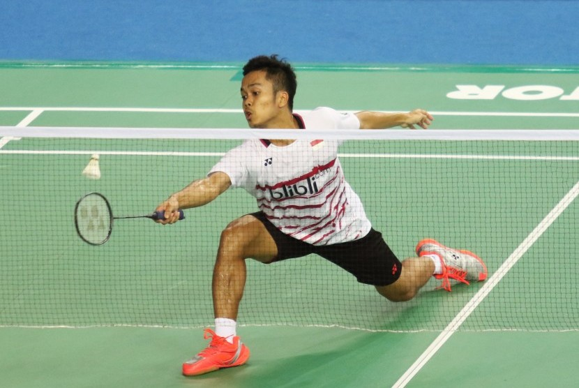 Pemain tunggal putra Indonesia, Anthony Sinisuka Ginting