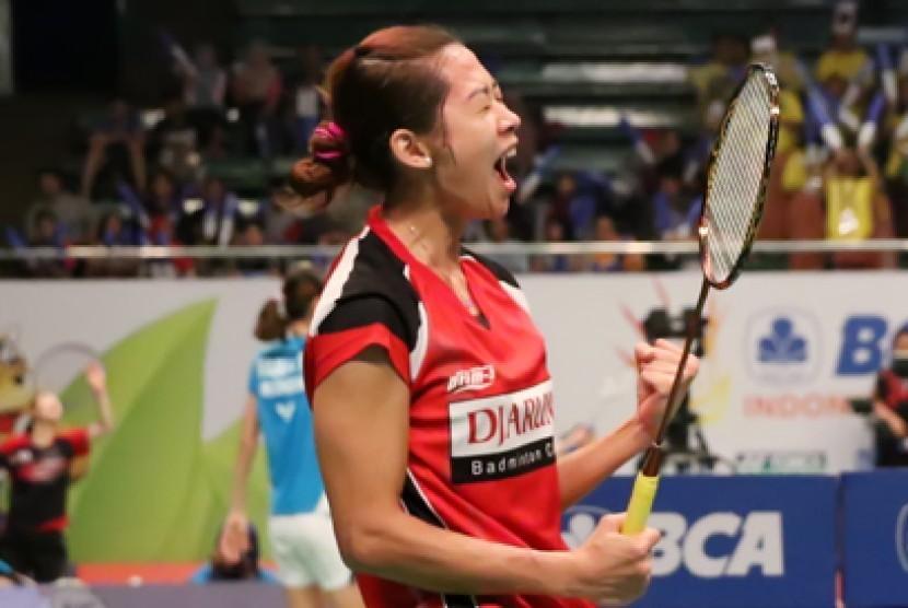 Pemain tunggal putri Maria Febe Kusumastuti gagal ke semifinal BCA Indonesia Open 2015