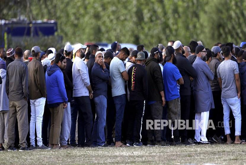 Pemakaman korban teror penembakan masjid di Christchurch, Selandia Baru, Rabu (20/3).
