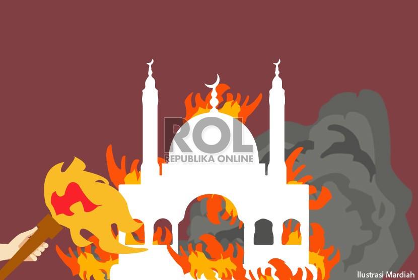 Pembakaran Mimbar Masjid (Ilustrasi)
