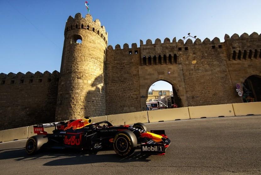 Pembalap Red Bull Max Verstappen di GP Azerbaijan.
