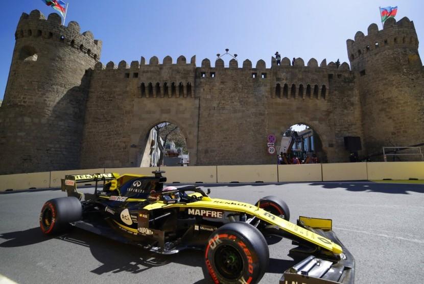 Pembalap Renault, Daniel Ricciardo.