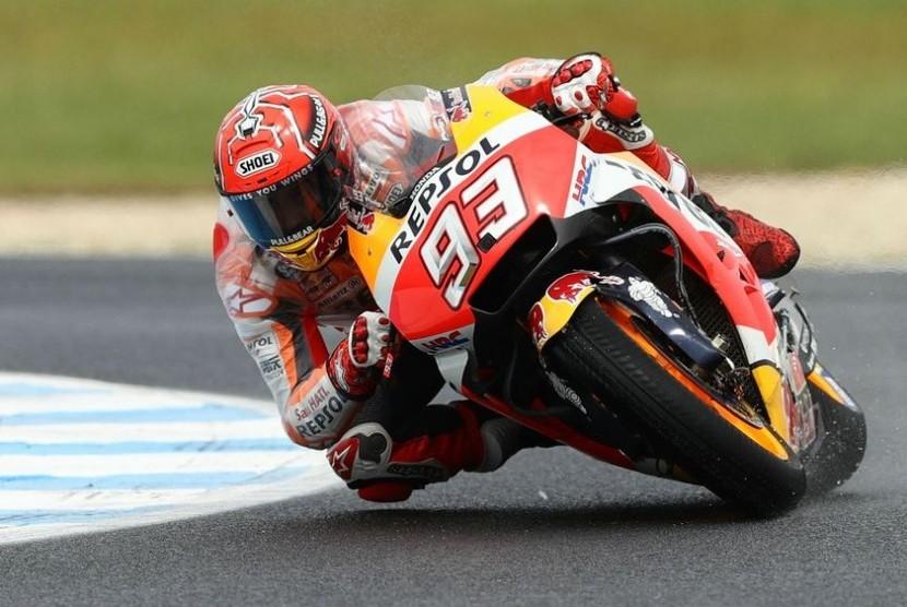 Pembalap Respol Honda Marc Marquez