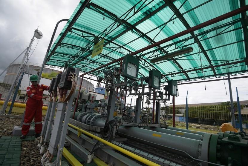 Pembangkit Listrik Tenaga Gas Uap (PLTGU) Cilegon, Banten. Pipa gas bawah laut K3S mengalami kebocoran, Senin (9/7). PLTGU Cilegon terdampak akibat kebocoran tersebut.