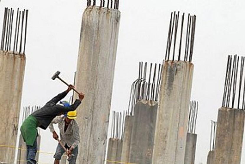 Pembangunan infrastruktur juga bisa dibiayai dengan pembiayaan syariah, ilustrasi