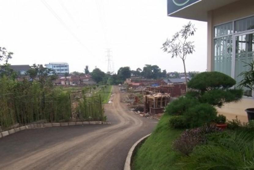 Pembangunan perumahan di Cimahi Utara (ilustrasi)