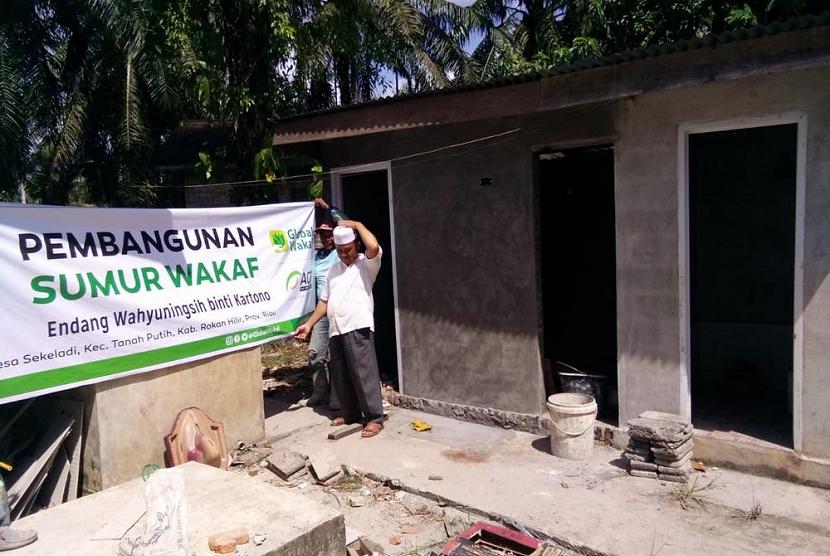 Pembangunan sumur wakaf oleh Global Wakaf ACT.