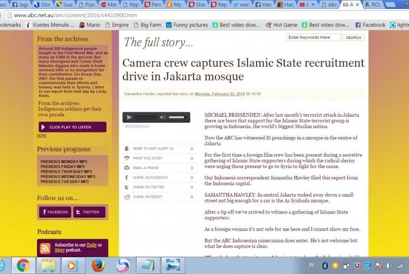 Pemberitaan soal ISIS dari ABC