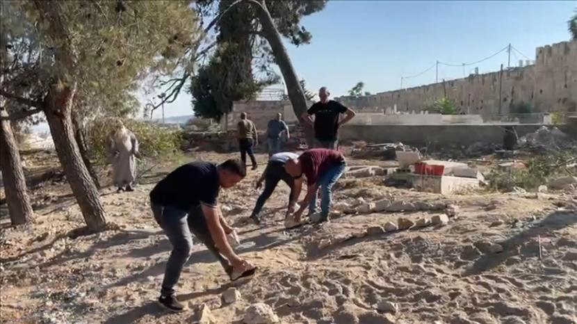 Israel Hancurkan Pemakaman Muslim Tertua di Yerusalem. Pembongkran pemakaman Al-Yusufiye di Yerusalem