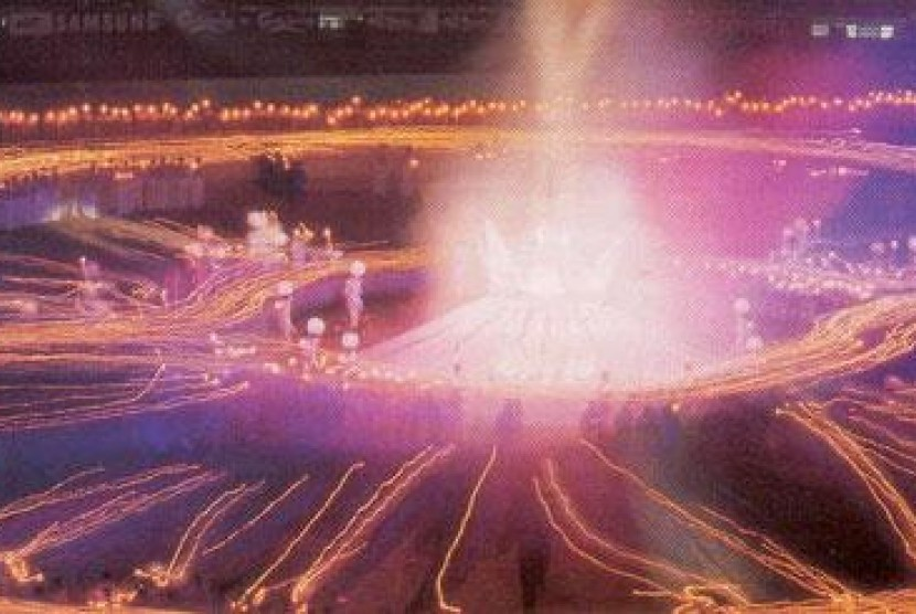 Pembukaan Asian Games 1998 Bangkok, Thailand.