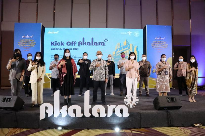 Pembukaan rangkaian forum pemasaran dan bisnis film Akatara 2021, Selasa (15/6) di The Westin, Jakarta.