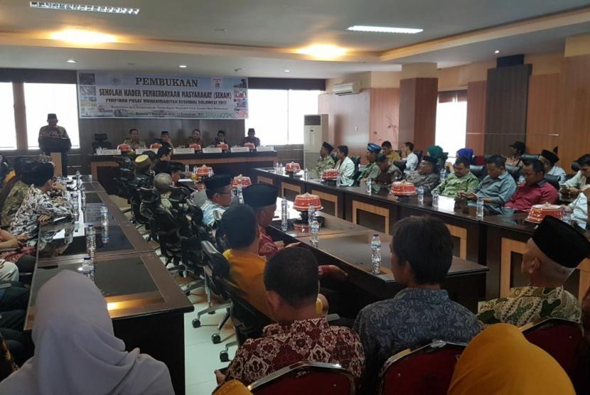 Pembukaan Sekolah Kader Pemberdayaan Masyarakat (Sekam) Majelis Pemberdayaan Masyarakat (MPM) PP Muhammadiyah di Aula Kantor Gubernur Sulbar, 22 September 2017.