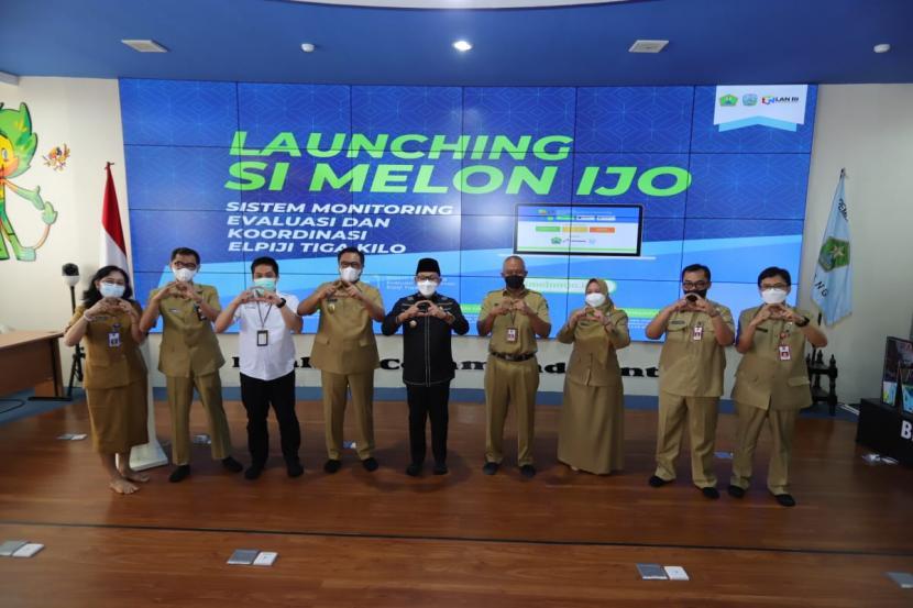 Pemerintah Kota Malang meluncurkan aplikasi Si Melon Ijo di Balai Kota Malang, Senin (7/6).