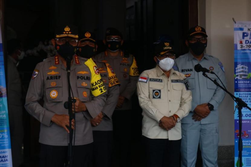 Pemerintah Kota (Pemkot) Malang menerima kunjungan jajaran Polri di Balai Kota Malang, Selasa (27/7).
