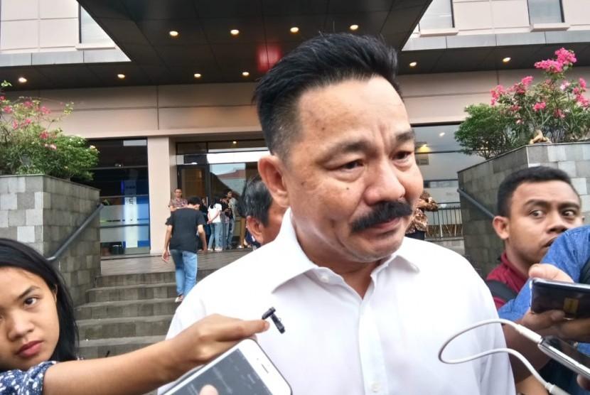 Pemilik Lion Air Group, Rusdi Kirana saat memberikan keterangan kepada wartawan di Hotel Ibis, Cawang, Jakarta Timur, Selasa (30/10) sore.