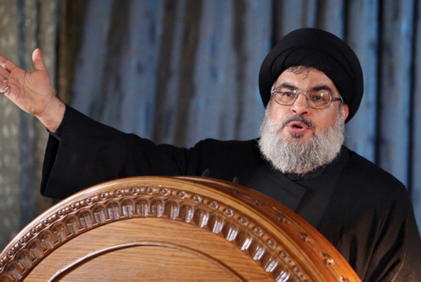 Pemimpin Hizabullah, Sayyed Hassan Nasrallah.