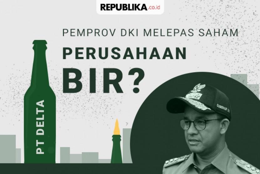 Pemprov DKI bernecana melepas kepemilikan 26,25 persen saham di PT Delta Djakarta.