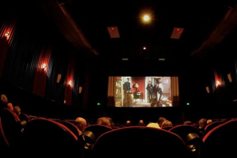 Pemutaran film di bioskop (ilustrasi)