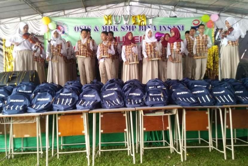 Penampilan siswa SMP Bosowa Bina Insani (BBI) di acara Pekan Muharam ke-20 tahun 1440 H.