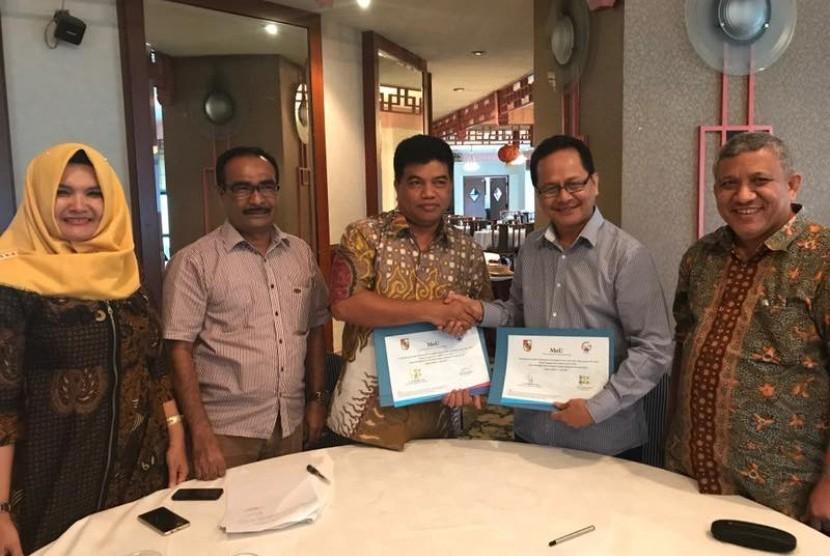 Penandatangan nota kesepahaman (MoU) PPDB di Jakarta, Rabu (12/4).