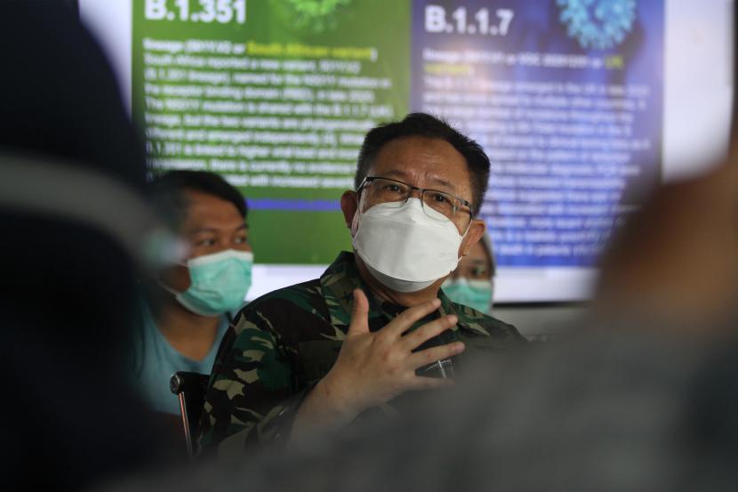 Penanggung Jawab Rumah Sakit Lapangan Indrapura (RSLI) Laksamana Pertama TNI I Dewa Gede Nalendra Djaya Iswara.