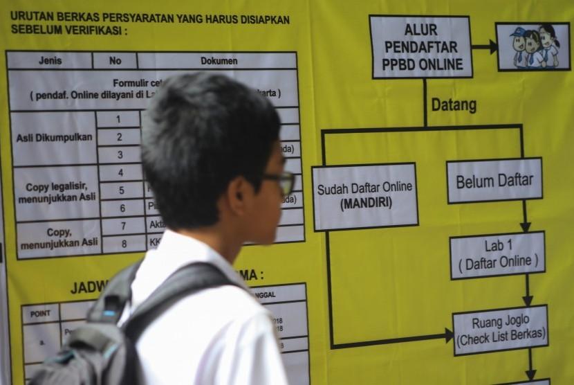 Pendaftaran Peserta Didik Baru (PPDB). Tahun ini, PPDB dilakukan sesuai zonasi atau wilayah tinggal siswa.
