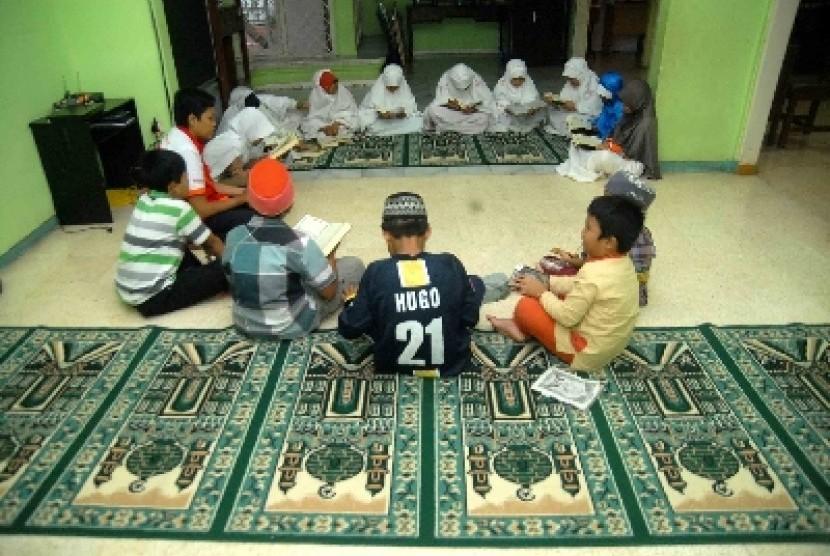 Pendidikan Islam sistem boarding school (ilustrasi).