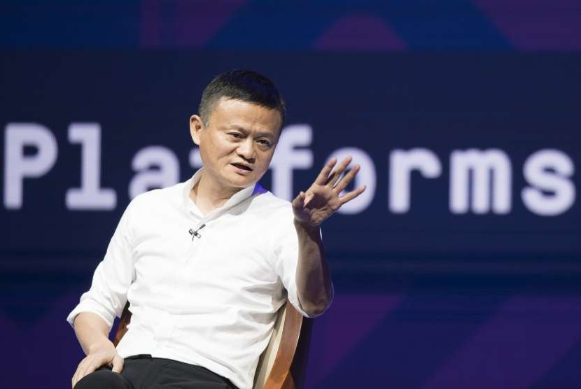 Founder of Alibaba Jack Ma become a speaker on a sidelines of IMF - World Bank Annual Meeting 2018 at Bali Nusa Dua Convention Center, Nusa Dua, Bali, Friday (Oct 12).