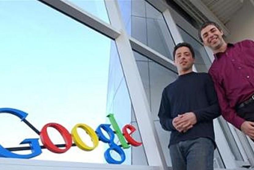 Pendiri Goole, Larry Page dan Sergey Brin.
