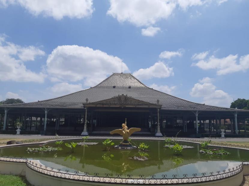 Pendopo Ageng Pura Mangkunegaran di Solo, Jawa Tengah.