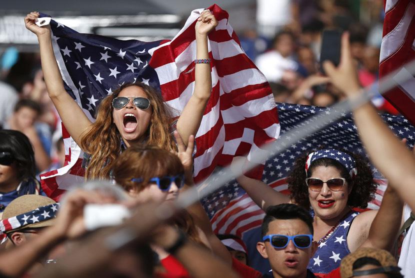 Pendukung Timnas Amerika Serikat.