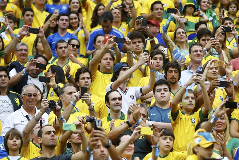 Pendukung Timnas Brasil.