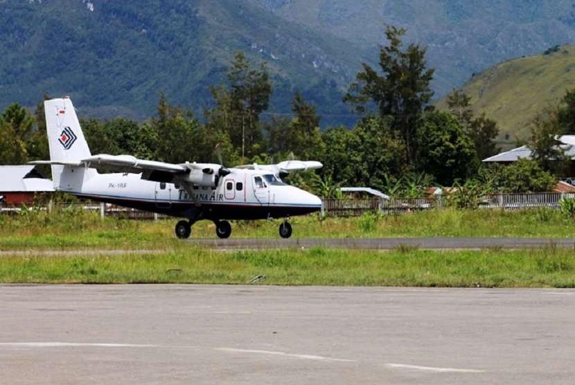 Penerbangan ke Wamena Papua (ilustrasi)